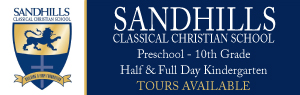 Sandhills Classical Christian School Moore County NC